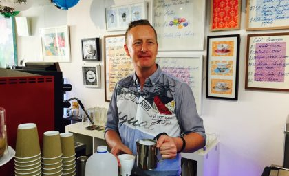 The CoSydney Coffeehouse has unveiled its newest addition – Craig Ankers.