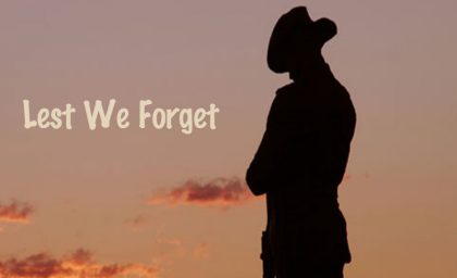 In remembrance of Anzac Day!